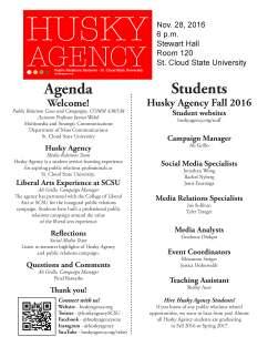 Husky Agency, Program, 8.5 X 11, by Rhiannon Steiger, Fall 2016